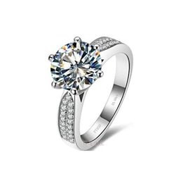 Wholesale Fire Stones - Free Shipping Fine 1,2,3ct, SONA diamond ring fire color stars super Sang Diamond engagement ring Women's ring