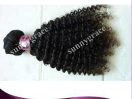 Wholesale Hair Clips Cheap Price - Wholesale deep curly natural black color 1b Brazilian hair weave cheap price weave for black woman