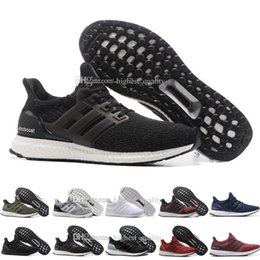 Wholesale Core Leather - Cheap New Ultra Boost 3.0 Core Black real boost Mens and women Casual Shoes Running shoes for men sports ultraboost ronnie fieg Size 36-47