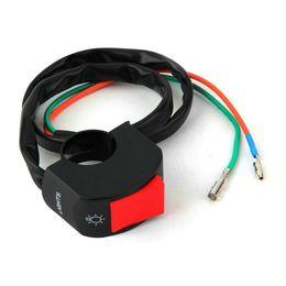 """Conector de motocicleta on-line-Interruptor de luz de nevoeiro da motocicleta 7/8 """"guidão ON / OFF botão conector bullet 12 v DC sistema elétrico Venda quente"""