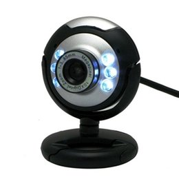 Wholesale night vision china - HD 12.0 MP 6 LED USB Webcam Camera with Mic & Night Vision for Desktop PC