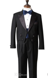 Wholesale Images Boy Accessories - Black Real Picture Two Piece Classic Handsome boy wedding suit Groom Wear & Accessories Boy's Attire Groom Tuxedos Boys' Formal