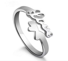 "Wholesale Word Love Rings - Hot! 10pcs lot""Love"" Word 925 sterling silver Ring Open adjustable size Don't fade Factory direct selling high quality Wedding Ring Gift box"