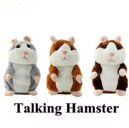 Wholesale Animal Speak - 3 Colors New Talking Hamster Plush Party Toys Speak Sound Record Hamster Plush Animal Kids Child Christmas Gifts Party Favor CCA7769 100pcs