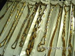 Deutschland Nagelneue 10 Stück Mischarten Gold Herren Edelstahl Kette Halsketten Modeschmuck Großhandel Viele Versorgung