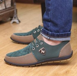 Wholesale Rubber Trends - 2016 new Spring summer men canvas shoes trend lace up Casual shoes Fashion breathable men shoes flats