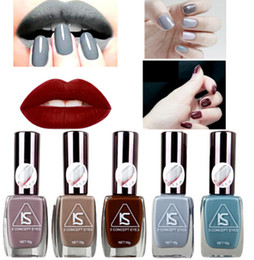 Wholesale Grey Nail Polish - 2016 Brand Matte Nail Gel Polish Fashion Grey Color 12 Colors 16 ml Manicure Beauty Tools Vernis A Ongle Varnish Nailpolish