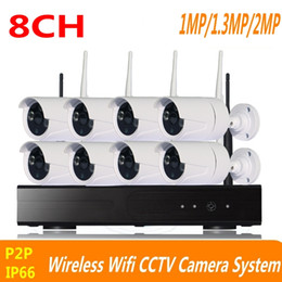 Wholesale Outdoor Nvr - 8CH CCTV System 720P 960P 1080P Wireless NVR kit outdoor indoor IR Night Vision P2P wifi IP Camera Security System Surveillance ann