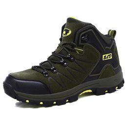 Wholesale Men Trekking Boots - New Winter Velvet Men Hiking Shoes Non-slip Breathable Trekking Walking Sneakers Outdoor Mountain Climbing Boots Free Shipping