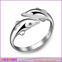 Wholesale N 925 - Features: Brand new and high quality Size: 15 mm (Adjustable) Color: Silver Metal: 925 Silver Plated Package Included: 1 x Dolphin Ring N