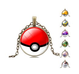 Wholesale Pokemon Lugia Figure - Poke Mon Lugia Charizard Pendant Necklaces Antique Bronze Poket Monster Pendants Action Figures Anime Jewelry Christmas Gift