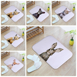 Wholesale Diy Carpets - Animal Home Non Slip Door Floor Mats Hall Rugs Kitchen Bathroom Carpet Decor anti-slip mats wholesale free shipping