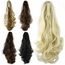 Wholesale Claw Clip Synthetic Ponytail - Wholesale-long hair ponytails with clip, claw ponytail, synthetic Hair Extensions, 1pc