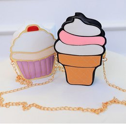 Wholesale Stripe Phone Shell - Women bag ice cream cake messenger bags cartoon cute shoulder bags small emjoy orange watermelon stripe shells hamburger unicorn