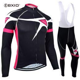 Wholesale Bike Jersey Women Plus Size - BXIO Women Cycling Clothing Black Cool Bike Jersey Winter Fleece Cycling Clothing Gel Pad 3 Rear Pockets Pro Team Bike Taem BX-129