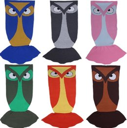 Wholesale Owl Birthday - Winter Sleeping Bag Owl Animal Blanket Knitting Children Adult Birthday Mermaid Blankets Christmas Gifts sleeping bag KKA2769