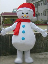 Wholesale Cheap Adult Cartoon Character Costume - Mascot Cheap Lovely Christmas Xmas Snowman Mascot Costume Adult Size Snow Man Cartoon Character Carnival Holiday Party Mascotte