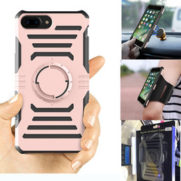 Wholesale Iphone Armband Retail Package - Shockproof Magnetic Case Outdoor Sport Case Cover With Armband And Retail Package For iPhone X 8 7 6 6S Plus 5S SE Samsung S7 S8 Plus Edge