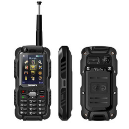Wholesale Dual Core Ip67 - Unlocked Discovery A12 A12i dual sim Walkie Talkie PTT Cell Phone 2.4Inch IP67 Waterproof UHF 3800mAh Quad band GSM
