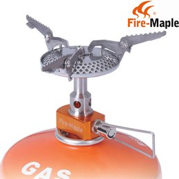Wholesale Big Power Stove - Wholesale-FMS-116 Super ultra-light Big Power 2820W Camping Cooker Outdoor Burner Gas Stove Picnic Cookout Hiking Equipment