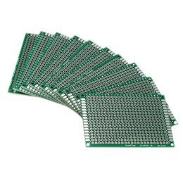 Wholesale Wholesale Printed Circuit Boards - Wholesale-2 Sets Lot 10X Double Side 5x7cm PCB Strip board Printed Circuit Prototype Track
