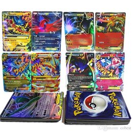 Wholesale Gifts Sets For Children - Poke Flash cards 60pcs lot EX Card No Repeat (include 12pcs MEGA Card) Charizard Venusaur Blastoise For children Gifts English Cards