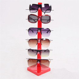 Wholesale Racks Glass - Wholesale-2016 New High Quality 6pc Sun Glasses Display Stand Fashion Acrylic Glassess Frame Rack Holder Eye Glasses Show Stand Holder