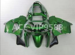 Wholesale 98 Kawasaki Ninja Zx9r Fairings - 3 gifts Fairing Kit for KAWASAKI Ninja ZX9R 98 99 ZX 9R 1998 1999 Compression mold Fairings set Black Green P8