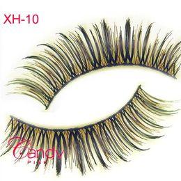 Wholesale Eyelashes Best Selling - XH-10 Natural False Eyelashes Wsp Style Natural Best Selling brown eyelashes