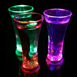 Wholesale Glow Cups Wholesale - New Water Inductive LED Cup Glowing Beer Wine Drink Liquid Fruit Juice GlassMug Christmas Party Creative Gift