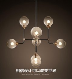 dna art Canada - 2016 new design north Europe style Modo Magic Bean Pendant Lamps 8 Globes Glass lampshade MODO DNA Pendant Lights for coffee clothing