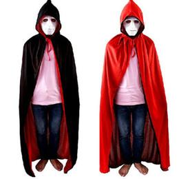 Wholesale Magic Vampire - Halloween cape cospaly clothing vampires cloak wizard magic robes Devil Long Cape Halloween Robe Cosplay Costume Cloak KKA2483