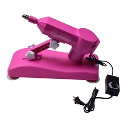 Wholesale Wholesale Sex Machine Guns - New Automatic Sex Machine Gun with Dildo Attachment Noiseless Sex Love Machines Stronger Power Pink by DHL