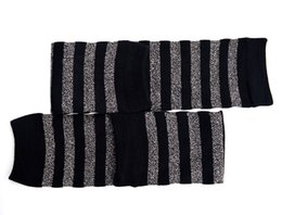 Wholesale Womens Cotton Knee Socks - Womens Striped Socks Breathable Warm Knitted Jacquard Leg Warmers Winter Warm Kneepad Cotton Socks Christmas Gifts