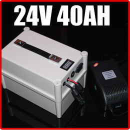 Wholesale 24v Electric Bikes Battery - 24V 40AH LiFePO4 Battery ,with Portable Box 1000W BMS Chargrer , RC Solar energy E-bike Electric Bicycle Scooter 29.2V battery