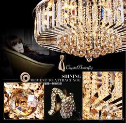 Wohnzimmerpakete online-Moderner europäischer Wohnzimmerleuchter. LED kreisförmige Wohnzimmer Schlafzimmer Deckenlampe Kristalllampe. 5 stücke ein paket