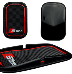 Wholesale A1 Rubber - Anti-Slip Mat Interior Accessories Mobile Phone S Line Anti Slip Pad For Audi A1 A3 A4 A6 A8 A7 TT Q3 Q5 Q7 RS3 RS5 RS7 Car Styling