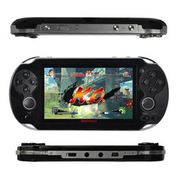 Wholesale Game Console Camera - 4.3 inch 8G portable game player Double rocker handheld game console camera video music