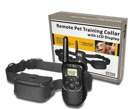 Wholesale Dog Ring Sport - 2016 HOT For dogs 998d remote control dog training collar bark stop collar electric shock device treatment ring stop dog barking collar Free