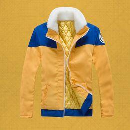 Wholesale Anime Jackets - Wholesale-Naruto Uzumaki Costume Hoodies Anime Winter NEW Thicken Hoody Uzumaki Naruto re-make Jacket Harajuku Sweatshirts