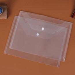 Wholesale Document Transparent - Great Transparent Folders File Plastic A4 Folders File Bag Document Hold Bags Folders Filing Paper Storage Office School Supplies 77