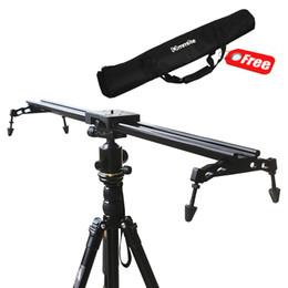 "Wholesale Dslr Slide - Wholesale-New Professional Portable Commlite 60cm   24"" Sliding-pad Video Camera Track Slider Dolly Stabilizer System for DSLR"