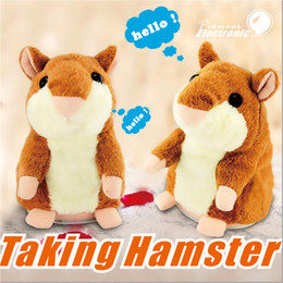 Wholesale Christmas Hamster - Talking Hamster Repeats What You Say The Cute Plush Animal Toy Electronic HamsterTalking Toys Mouse Pet Plush OOA2883