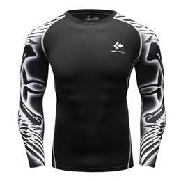 Wholesale Athletic Tops Long Sleeve - Wholesale- Under t-shirt homme Athletics Tops Blouse Breathing Compression Shirt Armor Fitness t-shirt Men's Women's T-shirt