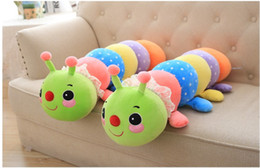 Wholesale Caterpillars Plush - 2016 Christmas gift toys. Children Toys. Creative toys. Multi colored caterpillar. Plush pillow. Gifts. Short plush. Plush toys.Large toy.