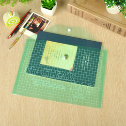 2019 sacos de arquivo Eco-Friendly Escritório A4 plástico transparente Publicidade Arquivo Bag Papelaria arquivamento arquivo fornecimentos Student Bag Suprimentos Documento Bolsa Bags sacos de arquivo barato