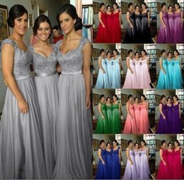 Wholesale Bridesmaid Dresses Wholesalers - bridesmaid dresses Long Chiffon Bridesmaid Prom purple bridesmaids dresses Formal Party Dresses Evening Ball Gown Dress beach bridesmaid dre