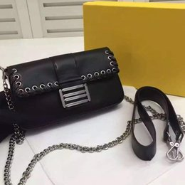 Wholesale Deep Frames - YX~New Fashion Luxury Women's 100% Genuine Leather Colorful rivets Bag Casual Frame Handbags Famous Designer Ladies Small Totes SIX Color
