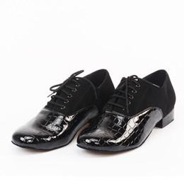 Wholesale Tango Dance Shoes Men - 2017 new men's latin dance shoes PU suede Latin shoes EU39--45 size heel 2cm heel 4cm ballroom modern dance shoes