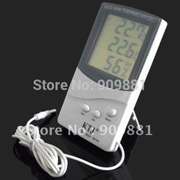 Wholesale Indoor Outdoor Thermometer - LCD Indoor Outdoor Digital Thermometer Hygrometer Home Office MAX-MIN Temperature Humidity Meter KTJ TA318 With 1.5M Sensor